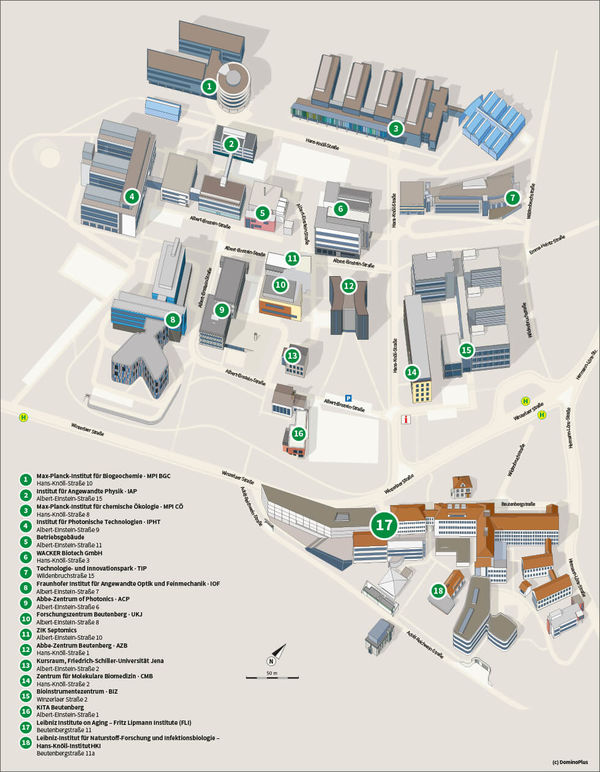 Map of Beutenberg Campus