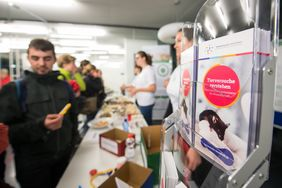 Booth of the Animal Welfare Officers (Photo: FLI/Thomas Müller)