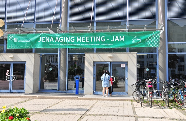The Jena Aging Meeting took place on the Ernst-Abbe Campus in Jena (Photo: Magdalena Voll/FLI)