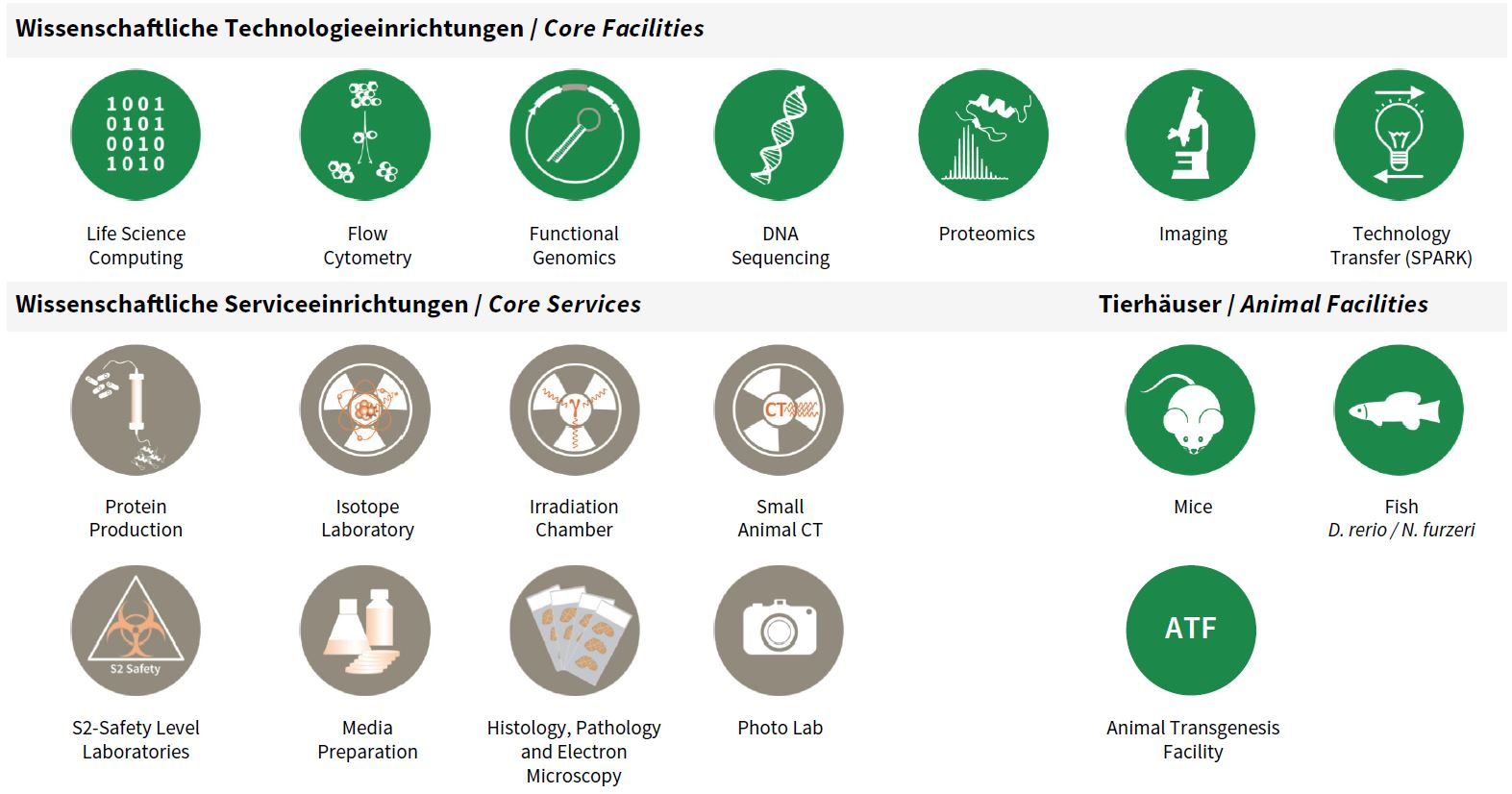 Overview Core Facilities & Services