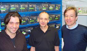 Die Preisträger vom FLI: Dr. Alessandro Cellerino, PD Dr. Matthias Platzer und Prof. Dr. Christoph Englert.